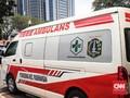 Ambulans DKI di Lokasi Demo Dikawal 2 Motor Patroli Satpol PP