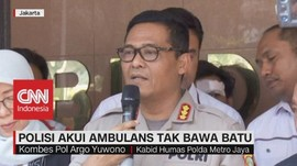 VIDEO: Polisi Akui Ambulans Tak Bawa Batu