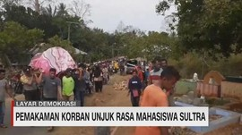 VIDEO: Pemakaman Korban Unjuk Rasa Mahasiswa Sultra