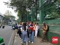 Jelang Demo, Pelajar Mulai Padati Stasiun Palmerah