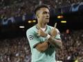 Lautaro Bawa Inter Unggul 1-0 atas Barcelona di Babak Pertama