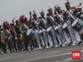 HUT ke-74, TNI Dapat Kejutan Kue dari Brimob