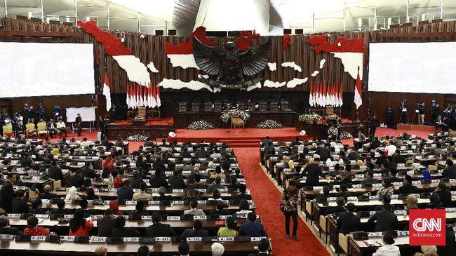 DPR masih menunggu pemerintah menyerahkan draf RUU omnibus law yang masuk daftar Prolegnas 2020.