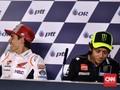 Marquez Masa Bodoh dengan Ucapan Selamat dari Rossi di MotoGP