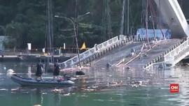 VIDEO: Tiga ABK WNI Tewas Tertimpa Jembatan Ambruk di Taiwan