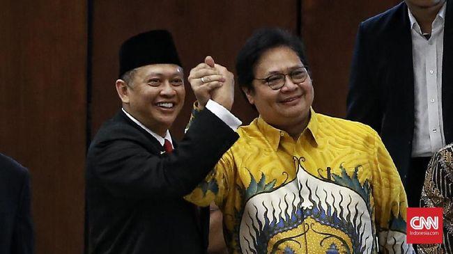 Ketua MPR terpilih Bambang Soesatyo memastikan tak lagi ada persaingan dengan Airlangga Hartarto untuk memperebutkan kursi ketua umum Partai Golkar.