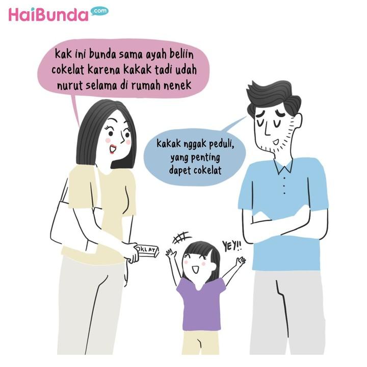 Tingkah anak yang kadang drama kadang bikin perasaan orang tua gemas, kesal, dan geli. Apakah drama anak kesayangan bunda sama dengan drama kakak di komik ini?