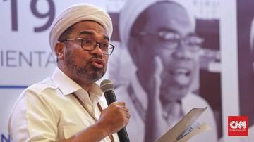 Staf Kepresidenan, Ali Mochtar Ngabalin saat diskusi politik di Jakarta, Jumat, 4 Oktober 2019. CNNIndonesia/Safir Makki