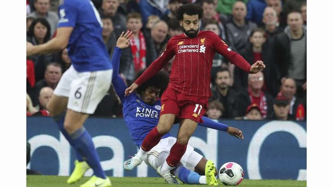 Penyerang Liverpool Mohamed Salah terancam absen lawan Manchester United di pekan kesembilan Liga Inggris di Stadion Old Trafford, Minggu (20/10).