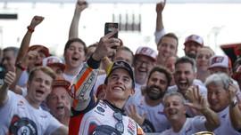 FOTO: Marquez Rayakan Gelar Juara Dunia MotoGP 2019
