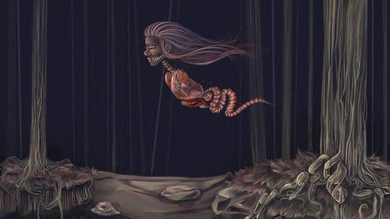 Kuyang adalah sosok siluman yang dapat terbang dan berwujud kepala perempuan dengan rambut panjang dengan organ dalam tubuh yang menggantung tanpa kulit.