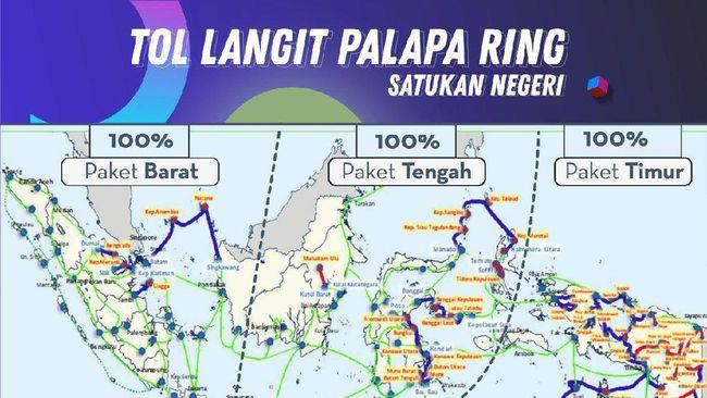 Menko Perekonomian Darmin Nasution yakin operasi Palapa Ring bisa menguntungkan industri logistik dan pariwisata karena bisa mempercepat pertukaran data.