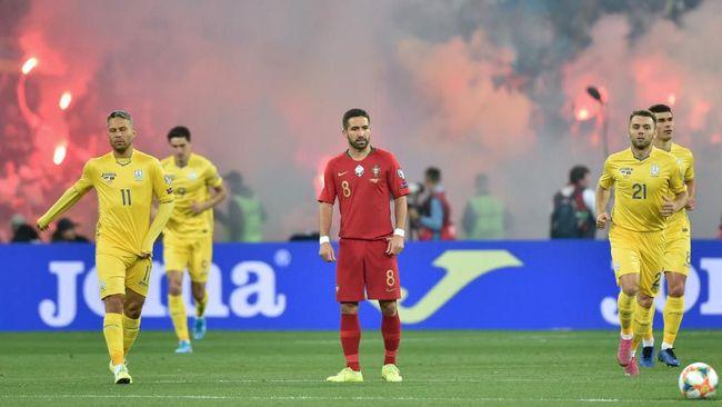 Ukraina menang tipis 2-1 atas Portugal dalam laga Grup B Kualifikasi Piala Eropa 2020 di Stadion NSK Olympiyskiy, Selasa (15/10) dini hari WIB.