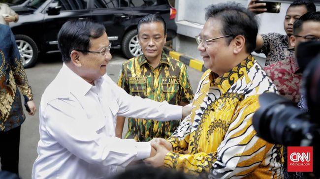Partai Gerindra mengaku belum resmi mencalonkan Prabowo Subianto di Pilpres 2024, Partai Golkar hendak menduetkan Airlangga Hartarto-Anies Baswedan atau Ganjar.