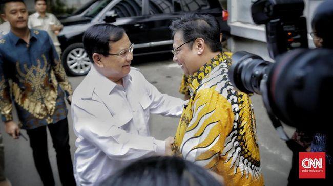 Prabowo dan Airlangga disebut sepakat mulai dari soal proyek lumbung pangan atau food estate sampai Indonesia tuan rumah Olimpiade 2023.