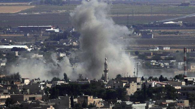 Serangan rudal Rusia dan pasukan Presiden Bashar Al-Assad dilaporkan menghantam lokasi dekat sebuah kamp sementara bagi pengungsi Suriah.