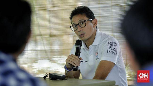 Sandiaga Uno sudah terdaftar sebagai salah satu juru kampanye pasangan Muhamad-Sara di Pilkada Tangsel 2020.