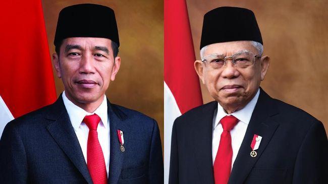 Usai membaca sumpah dan dilantik oleh MPR, Joko Widodo dan Ma'ruf Amin resmi menjadi presiden-wakil presiden Republik Indonesia yang baru periode 2019-2024.