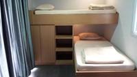 <div><strong>Inspire Arena</strong></div><div></div><div>Bentuk tempat tidurnya unik ya, Bun. Tapi, penginapan ini enggak punya kamar mandi pribadi, hanya ada 5 kamar mandi bersama. Letaknya di kecamatan Parongpong. (Foto: Istimewa)</div>