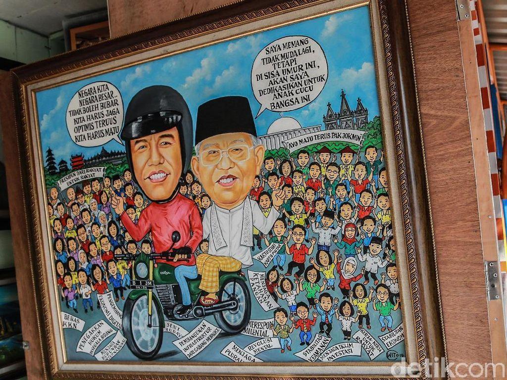 Melihat Lukisan Jokowi-Ma'ruf Jelang Pelantikan Presiden