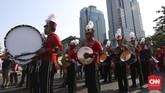 Relawan menggelar acara untuk memperingati pelantikan Joko Widodo menjadi presiden untuk periode kedua. Relawan Jokowi menggelar acara di kawasan Monas.