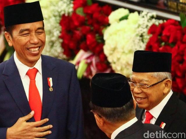 Melihat lagi Momen Bersejarah Pelantikan Jokowi-Ma'ruf di DPR