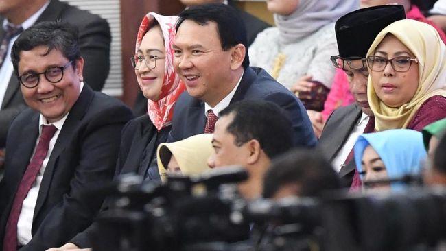 Eks Gubernur DKI Jakarta Basuki Tjahaja Purnama bersyukur dan berbahagia atas pelantikan Jokowi-Ma'ruf Amin sebagai Presiden dan Wapres 2019-2024.