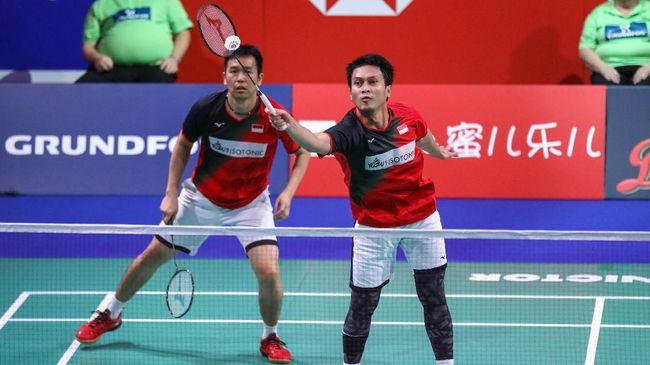 Mohammad Ahsan/Hendra Setiawan gagal sempurna di Grup B BWF World Tour Finals 2019 usai kalah dari Lee Yang/Wang Chi-Lin.