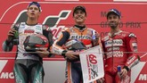 Marc Marquez meraih kemenangan mudah atas Fabio Quartararo pada balapan MotoGP Jepang 2019 di Sirkuit Motegi.