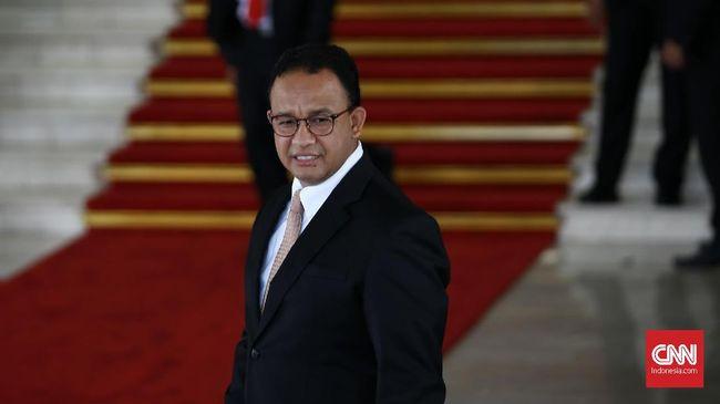Anies Baswedan menghadiri upacara pelantikan presiden dan wapres periode 2019-2024 di Gedung Nusantara, kompleks Parlemen, Senayan, Jakarta, Minggu (20/10/2019). CNN Indonesia/Andry Novelino