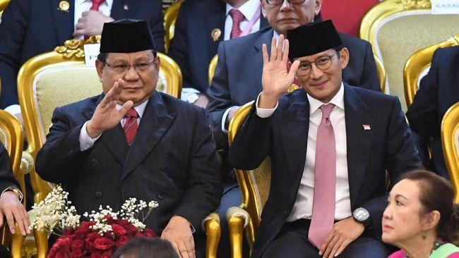 Politikus Gerindra Sandiaga Uno menangkap pesan, bahwa dalam pidatonya, Jokowi mengajak semua pihak membangun Indonesia dengan target yang konkret.