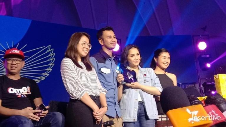 Dalam kesempatan itu Raffi Ahmad juga mengumumkan keputusan untuk pamit dari dunia hiburan Indonesia.