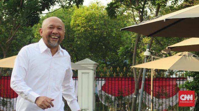 Mantan Staf Khusus Presiden, Teten Masduki menyambangi Istana Kepresidenan Jakarta, Selasa (22/10).