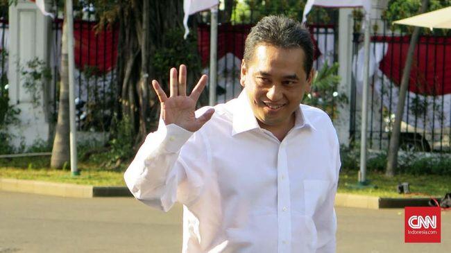 Ketua Umum PB Ikatan Anggar Seluruh Indonesia (Ikasi), Agus Suparmanto menyambangi Istana Kepresidenan Jakarta, Selasa (22/10).
