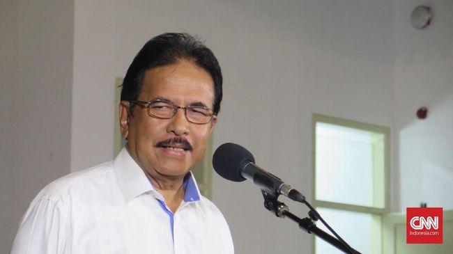 Mantan Menteri ATR/Kepala BPN Sofyan Djalil di Kompleks Istana Kepresidenan Jakarta, Selasa (22/10).