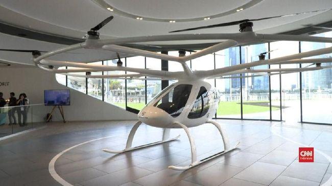 Moda transportasi Volocopter digadang-gadang bakal menjadi salah satu solusi menghindari kemacetan, kepadatan penduduk, dan penutupan jalan.