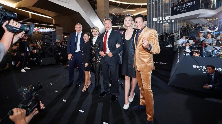 Kru dan para pemain film Terminator: Dark Fate baru saja menggelar konferensi pers pada Senin (21/10) di Korea.