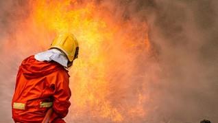 Gudang di Koja Jakarta Utara Terbakar