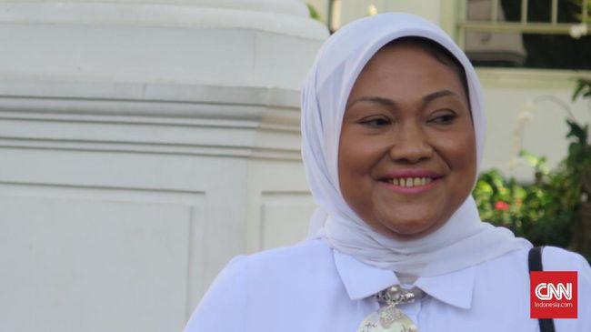Politikus PKB Ida Fauziyah mengaku diminta Presiden Joko Widodo untuk menjadi menteri pada pemerintahan periode kedua, di Kompleks Istana Kepresidenan Jakarta, Selasa (22/10).