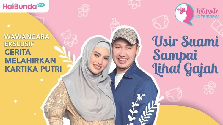 Kartika Putri melahirkan anak pertamanya dengan Usman Bin Yahya pada Jumat lalu. Gimana cerita Kartika Putri saat melahirkan?