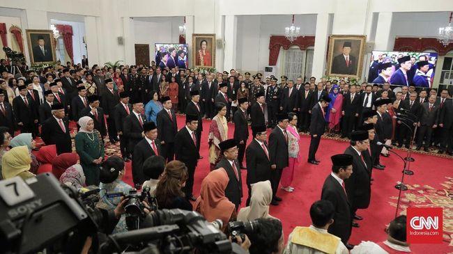 Hasil tes virus corona yang dilakukan menteri Kabinet Indonesia Maju keluar dalam waktu dua hari.