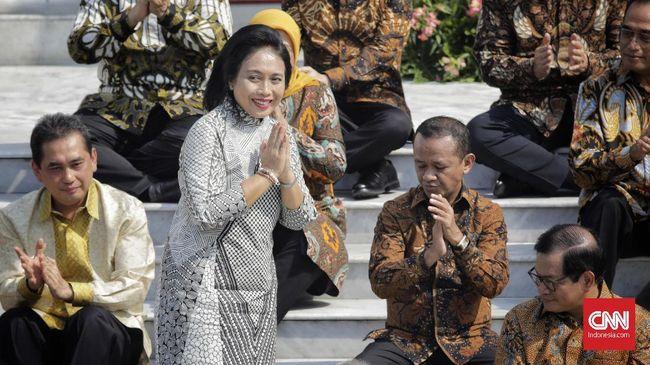 Saat melakukan sertijab eks Menteri PPPA Yohana berpesan soal RUU PKS, namun ketika hal itu ditanyakan lanjut ke Menteri PPPA Gusti Ayu Bintang menjawab nanti.