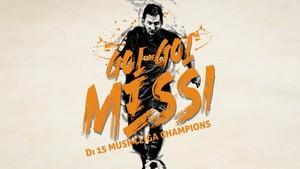 Koleksi Gol Messi dalam 15 Musim Liga Champions