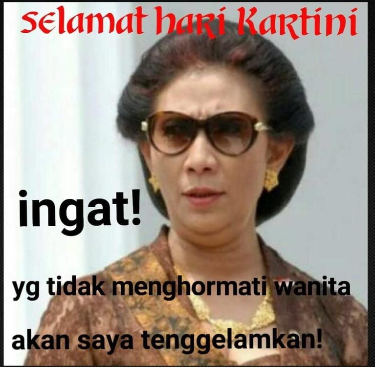 Di Hari Kartini, Susi juga banyak mendapatkan kiriman meme kocak dari netizen.