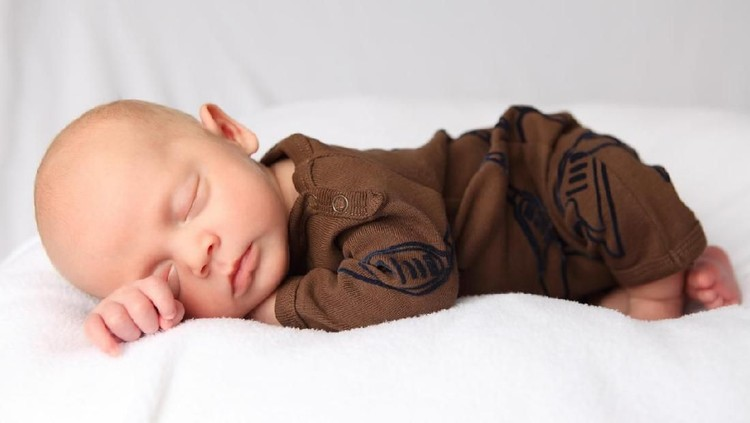 Shot of an adorable baby boy at home