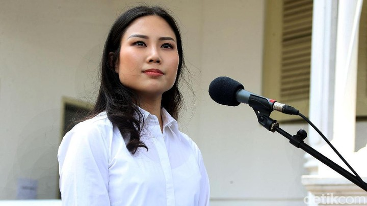 Angela Tanoesoedibjo maju sebagai caleg dari Partai Persatuan Indonesia (Perindo) dengan Dapil Jatim I Surabaya-Sidoarjo dalam Pileg 2019. (Foto: Rengga Sancaya)