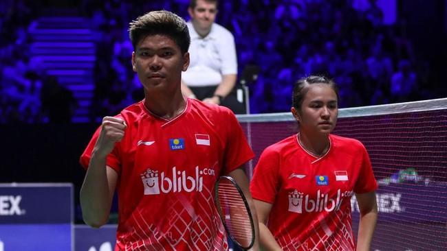 Praveen Jordan/Melati Daeva akan menghadapi ganda campuran nomor satu dunia, Zheng Siwei/Huang Yaqiong di babak final French Open.(dok. PBSI)