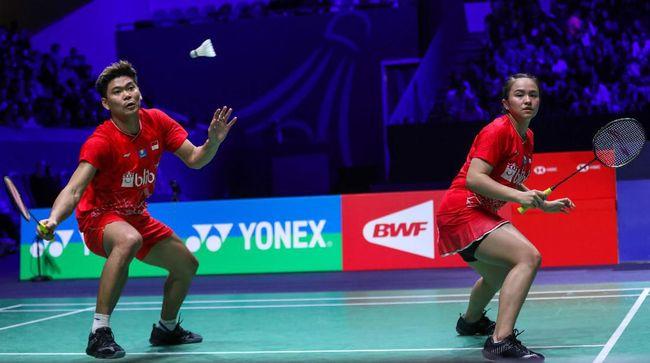 Praveen Jordan/Melati Daeva Oktavianti berhasil lolos ke babak kedua turnamen badminton Hong Kong Open 2019.