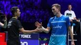 Usai menaklukkan Viktor Axelsen, Jonatan Christie akan menghadapi Chen Long di babak final. (dok. PBSI)