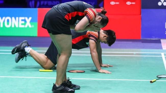 Praveen Jordan/Melati Daeva menghadapi ganda campuran nomor satu dunia, Zheng Siwei/Huang Yaqiong di final French Open.(dok. PBSI)